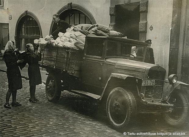Veoauto GAZ-MM sõjajärgseil aastail. Foto: Elsa Rõõmuse kogust