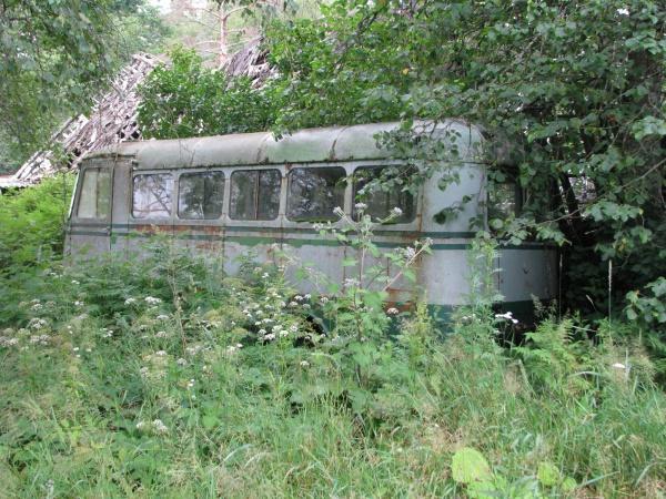 Buss oma endises asukohas Põltsamaa lähistel.