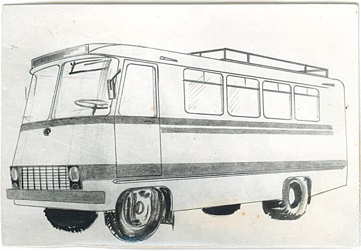 Furgoonbussi kavand. Foto: Tartu ARKT arhiiv.