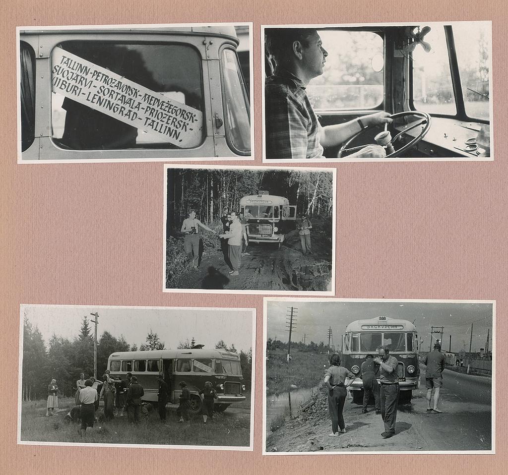 Tallinna 16. autobaasi töötajad kolmenädalasel ekskursioonil Karjalasse. Fotod Feliks Puusepa albumist.