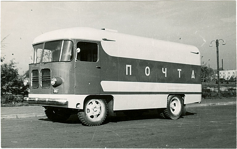 Postiveofurgooni TA-9C katsemudel, 1961. a. Foto: Tartu ARKT arhiiv.